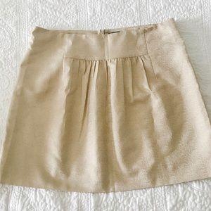 J. Crew Gold mini skirt